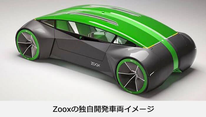 Zooxno独自開発車両のイメージデザイン
