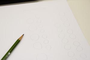 鉛筆で「○」印を付けておく