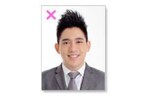 (悪い例)履歴書用写真の髪型・ハードな髪型