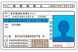 2017年道路交通法改正以降の免許証