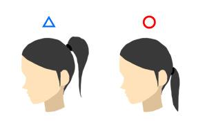 面接時の髪型・ポニーテール