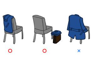 椅子にコートを掛ける場合のマナー