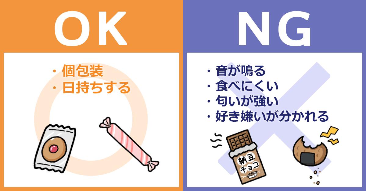 退職時に配るお菓子は、個包装で日持ちするものを選ぶのが基本。音が鳴る・食べにくい・匂いが強い・好き嫌いが分かれるものは避けるのが無難。