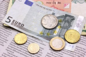 ユーロ紙幣とコイン