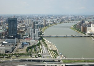 新潟の景色_信濃川