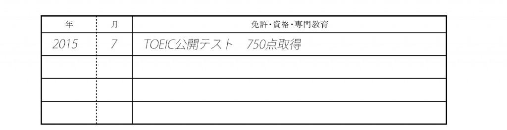 履歴書記入例_TOEIC公開テスト