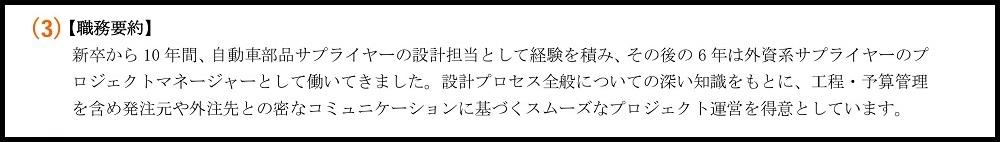 職務経歴書_(3)職務要約(経歴概略)