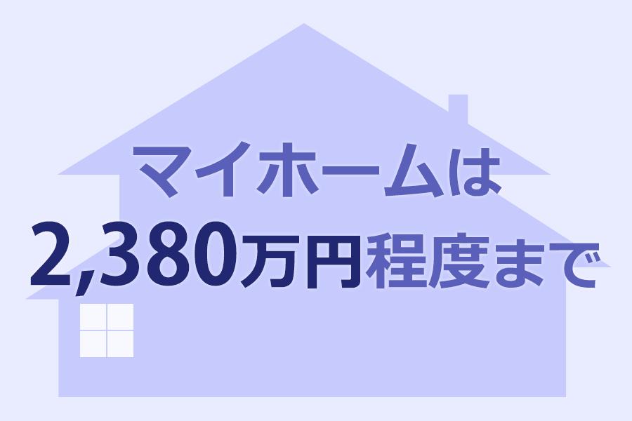 マイホームは2,380万円程度まで