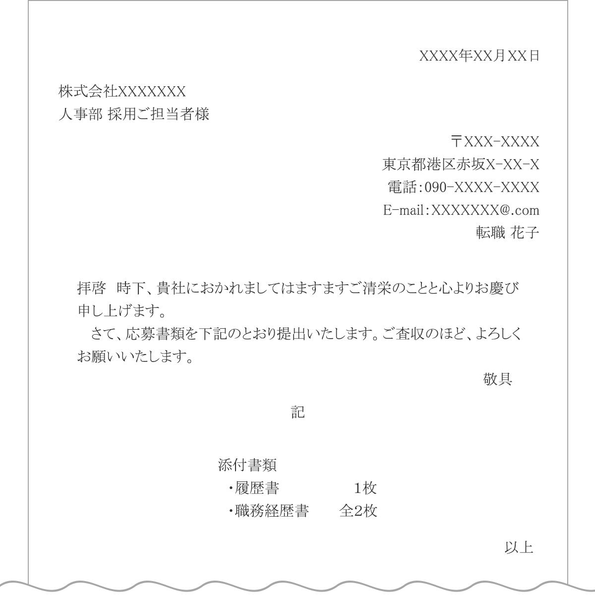 送付状の書き方見本