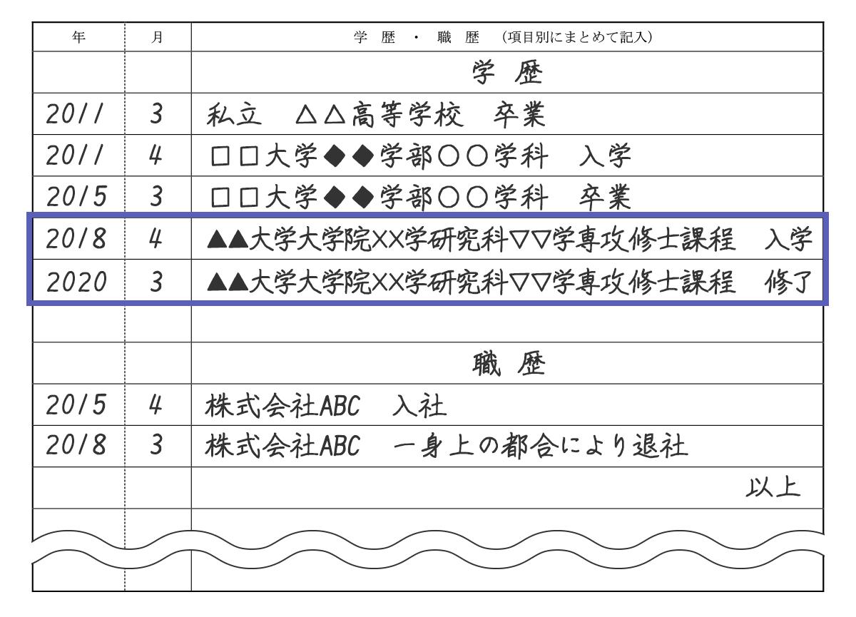 書 学歴 計算 履歴