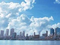 都市の遠景