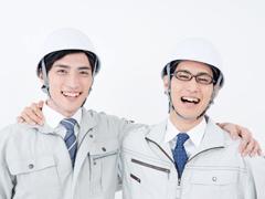 施工管理の男性2人
