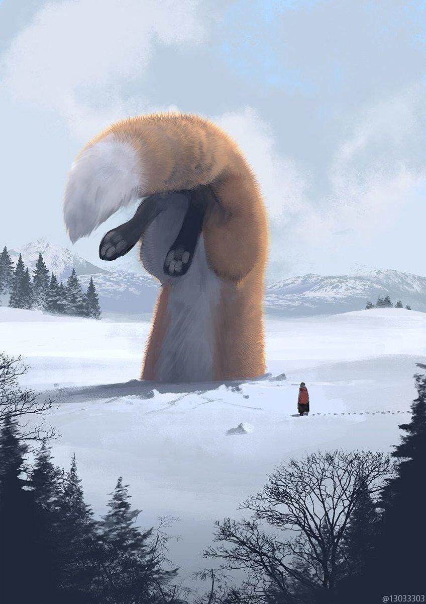 最近大きな生き物からいらっしゃる方が多いので、毛が分厚そうなやつらの再掲です