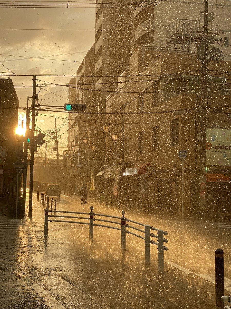 ドラマチックだけど、普段から傘を持たない私はずぶ濡れです