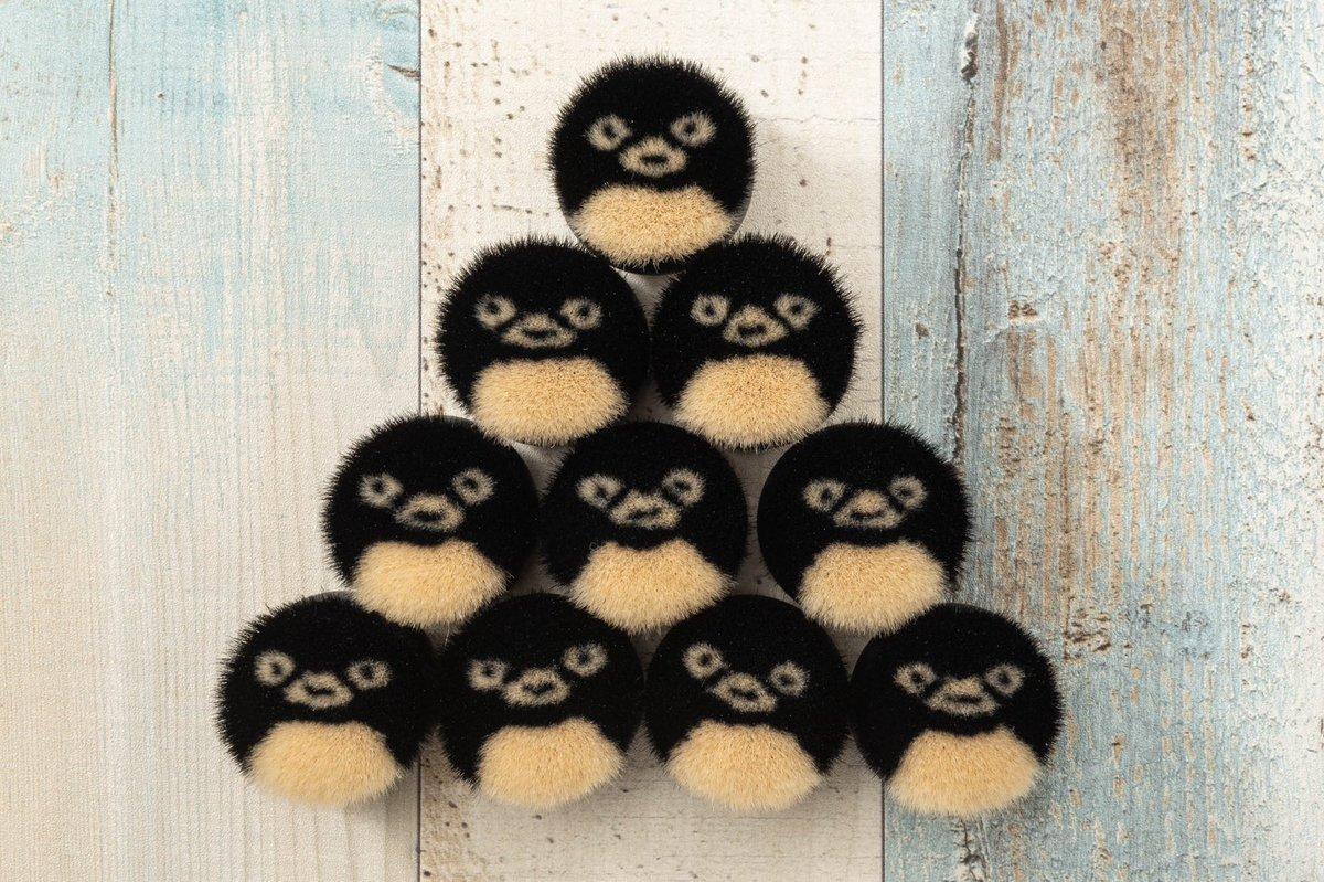 いろんな顔の子がいる #熊野筆 #ペンギンクマノフデ