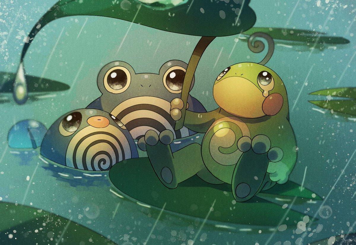 ニョロ漫画 なんかトノと一緒にいると雨止まないっすよね