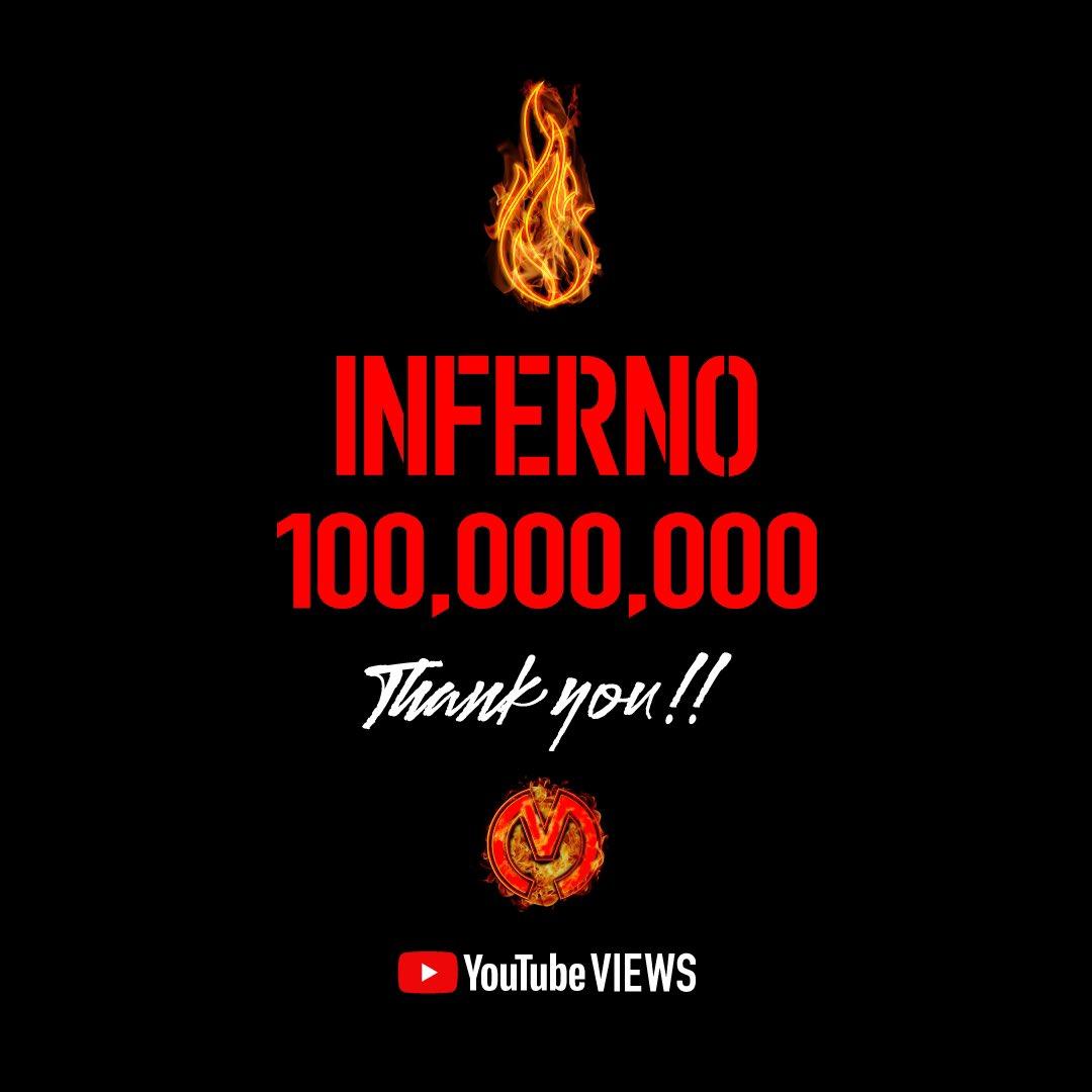 🔥】 「インフェルノ」のMVが1億回再生を突破しました🎊  皆さま、ありがとうございます✨    #インフェルノ #Inferno #withMGA #MrsGREENAPPLE