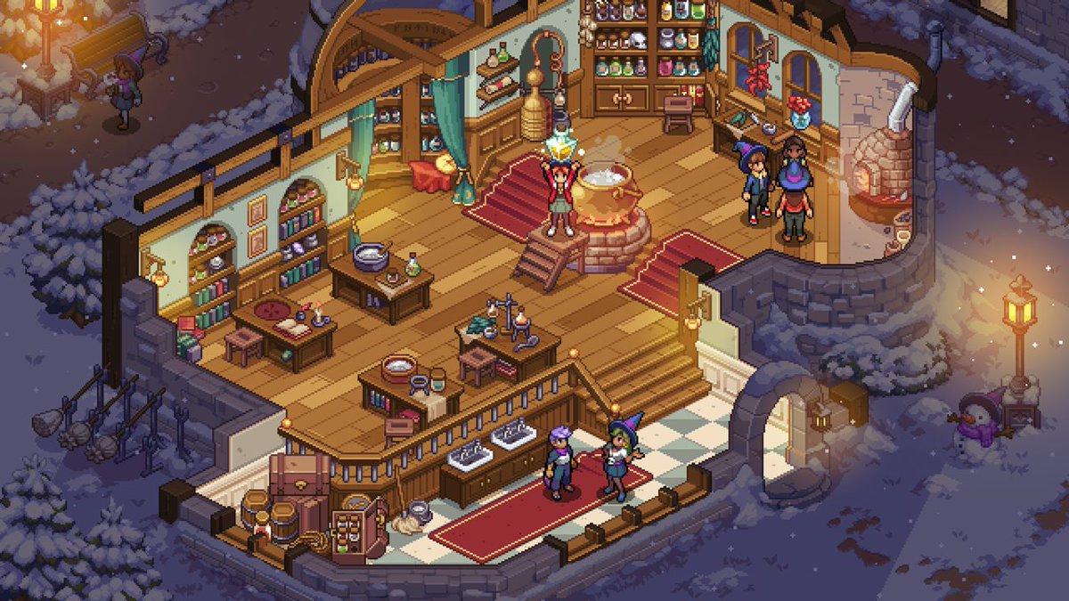 【ニュース】魔法学校生活ゲーム『Witchbrook』久々の新情報公開