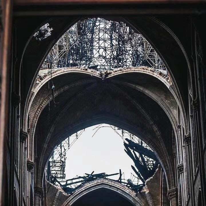 After the fire of the Notre Dame.