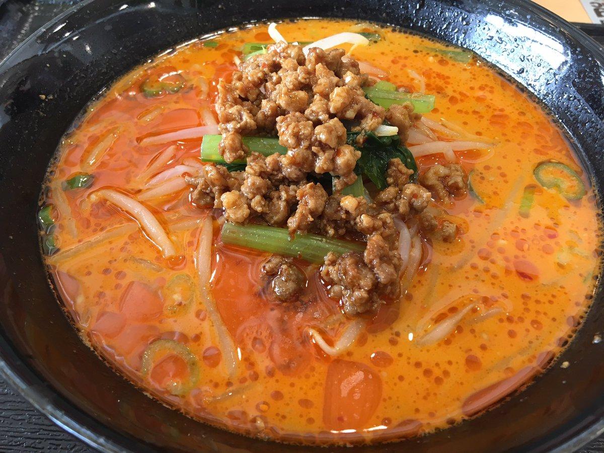 昼飯はモレラ岐阜のフードコートで担々麺にしました