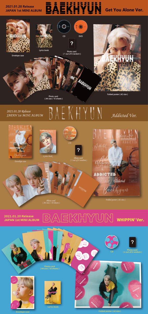 JAPAN 1st MINI ALBUM「BAEKHYUN」初回生産限定盤 商品イメージ公開💿✨  収録曲をイメージしたビジュアルの初回生産限定盤は #BAEKHYUN が盛りだくさん
