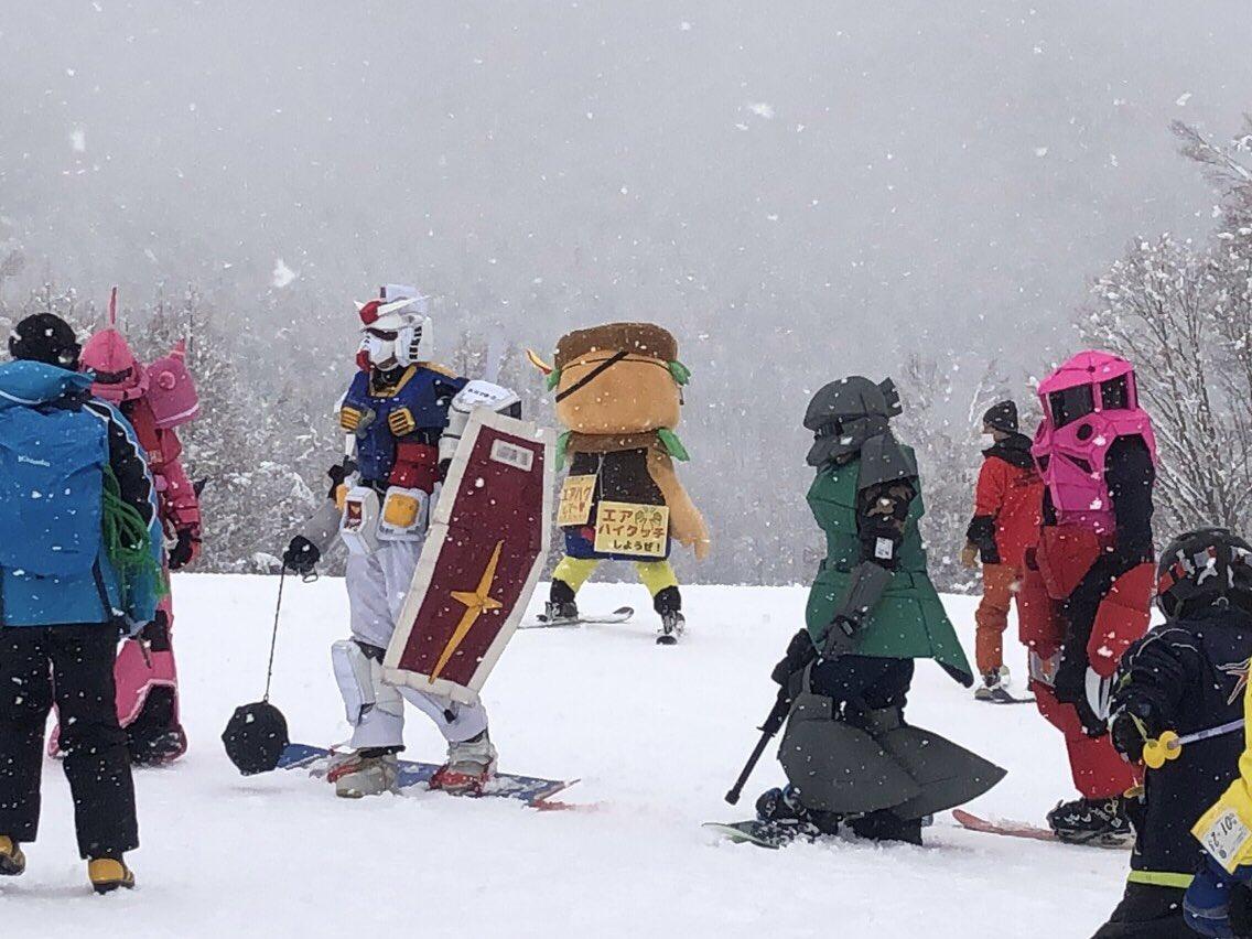 スキー場がガンダム祭りwww