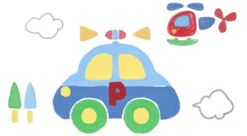 小さいころお気に入りだった敷物に描かれてた車のやつ