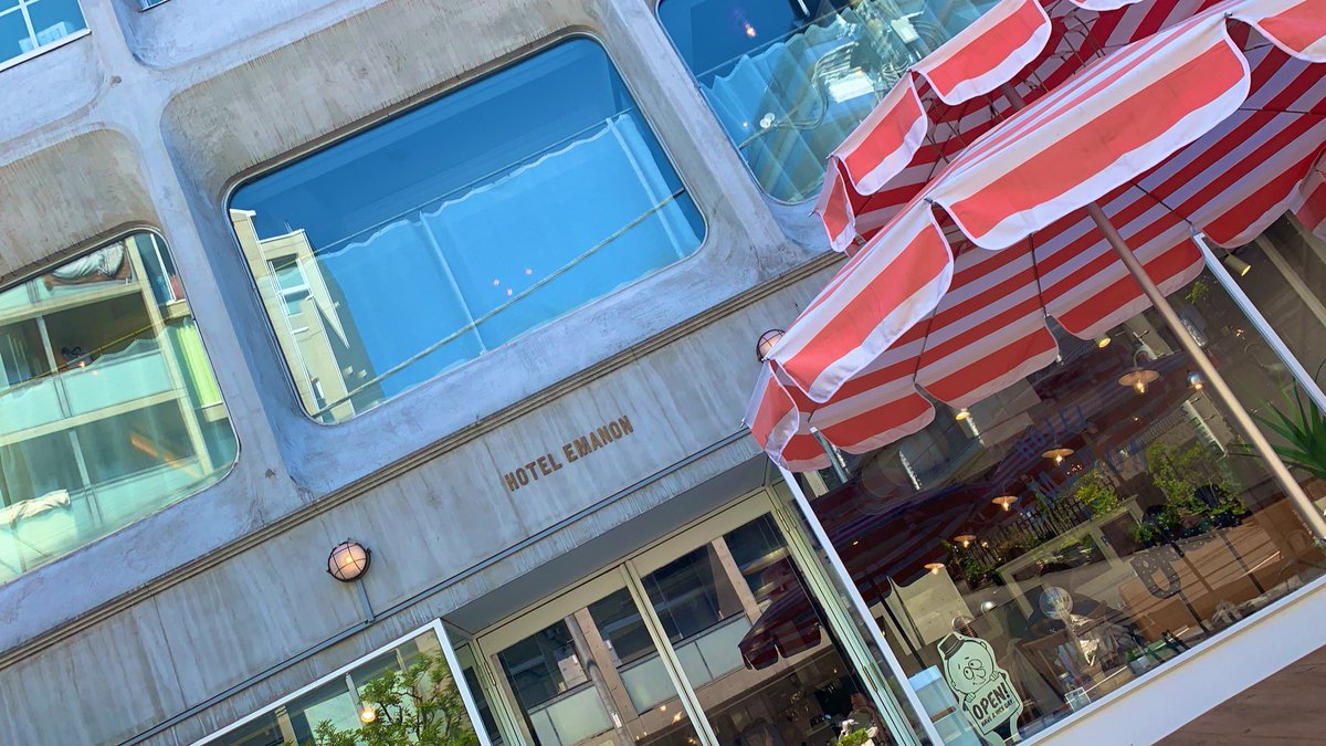 GW~🥰💕💕 行きたかったHOTEL EMANONでランチしてきた🐻🍝🍴渋谷も反対側は空いててのんびりブラブラ歩けて、ゆったりした時間を過ごせた☺️💓 お店の中も外もとってもお洒落な空間でずーっと居たい場だったなぁ🥰🥰