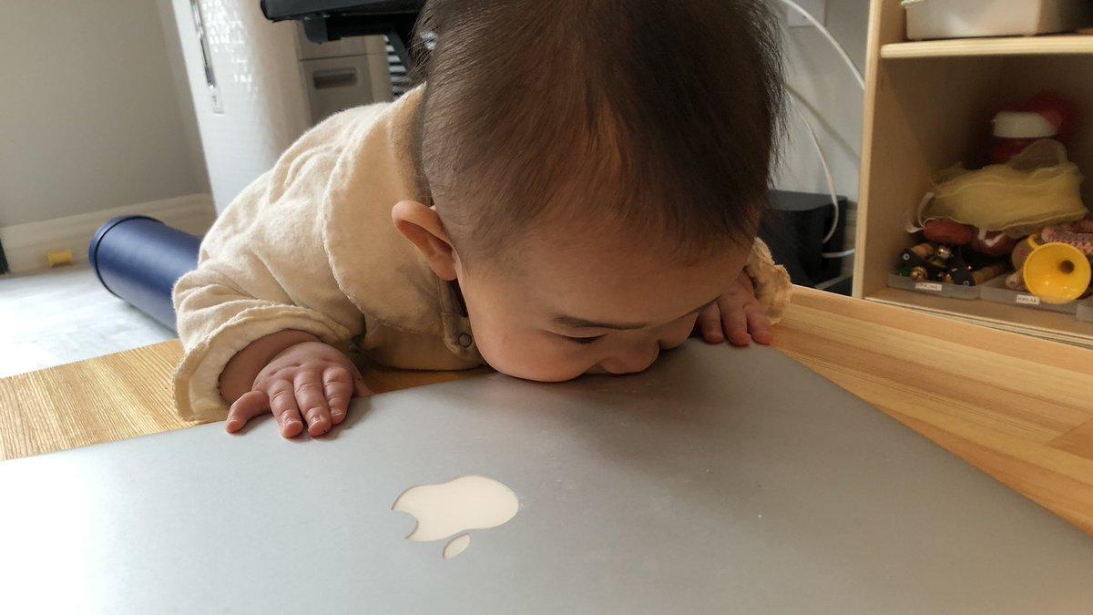 今朝起きたら、生後7ヶ月の娘が朝マックしてた