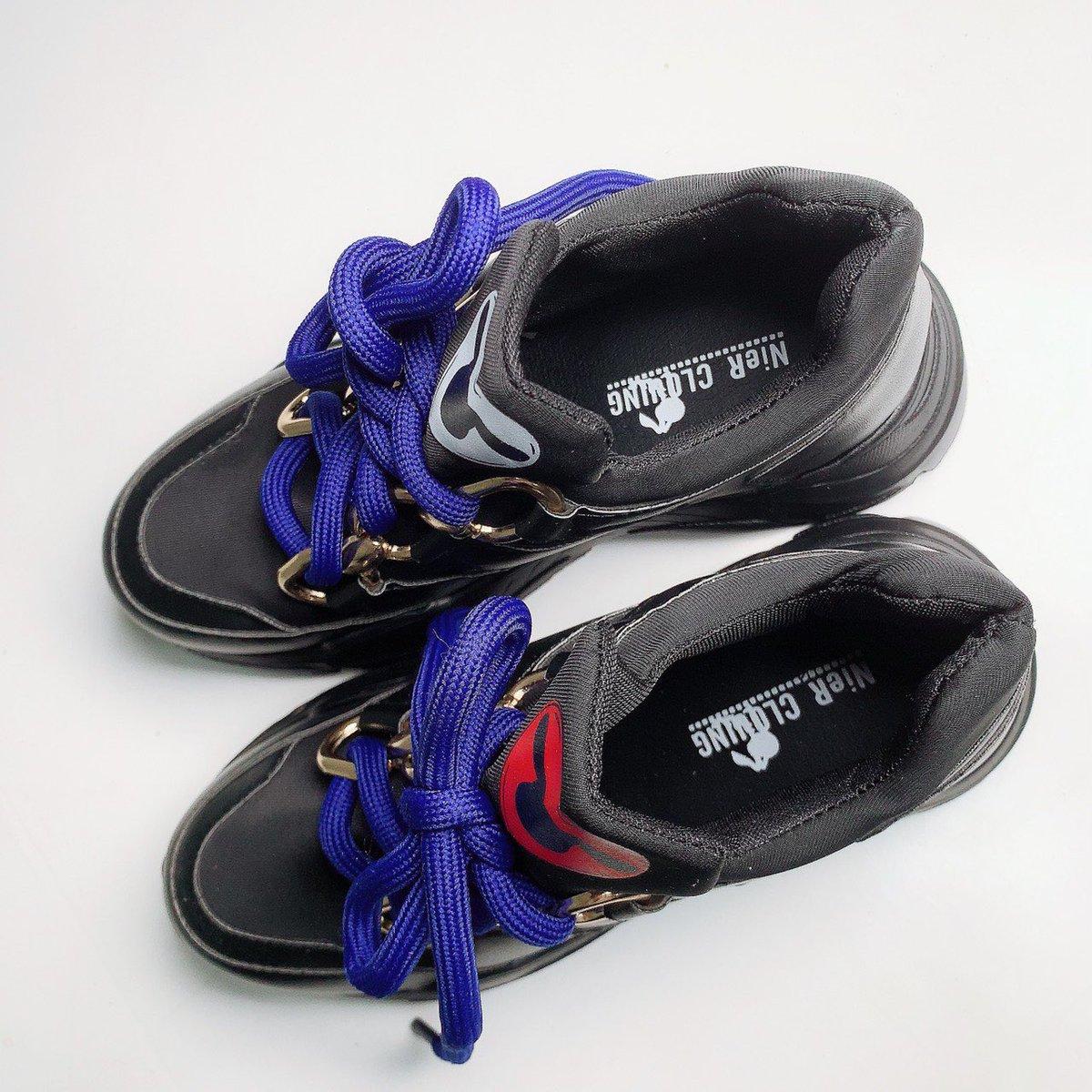 🚫新作案内🚫  NieR LADIES BLACK SHOES 【BLUE RIBBON】  軽量&クッション性ソールで長時間歩いても疲れにくい拘りのアイテムです