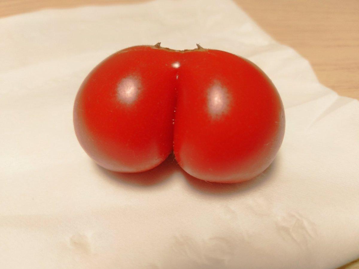 尻の穴までついてるトマトみて
