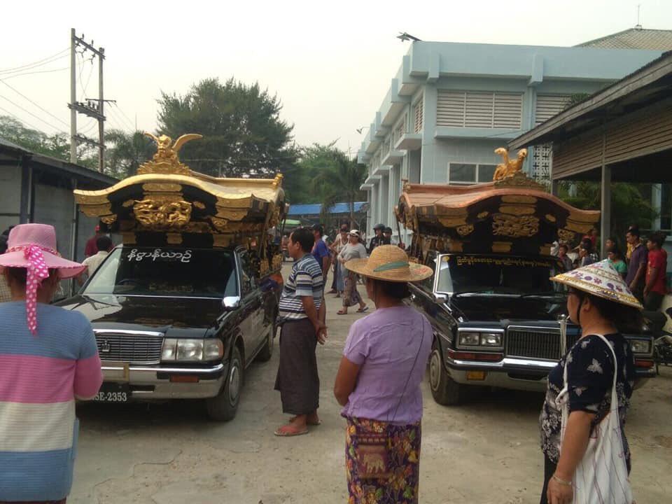 日本から消えた宮型霊柩車の行方  実はミャンマーに輸出され使われている ミャンマーでは人気がある  仏教信仰が強くで金ピカも受ける 日本で嫌われた宮型や金竜も ミャンマーでは人気物  鉄道車輌もアジアでは余生を送っているが、霊柩車も南アジアでは活躍している