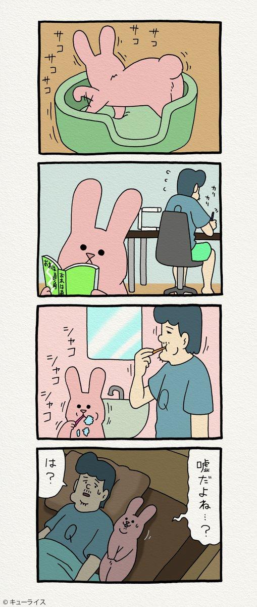 8コマ漫画スキウサギ「スイカ」  単行本「スキウサギ4」発売中