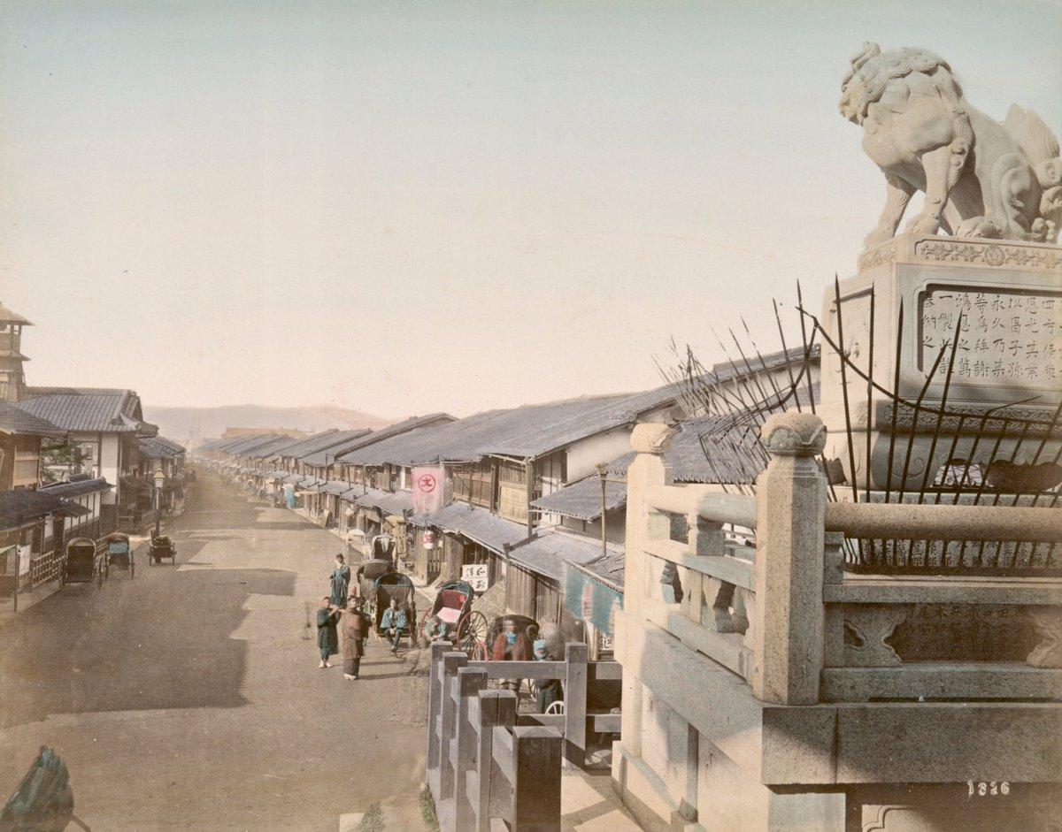 明治時代の初めごろに撮影された京都の風景