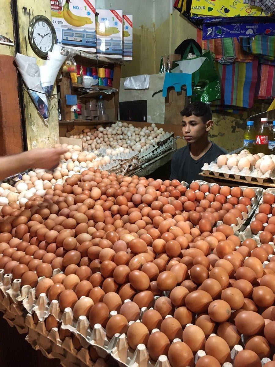 モロッコで見かけた卵に囲まれすぎて精気を失った人でも見て落ち着くか