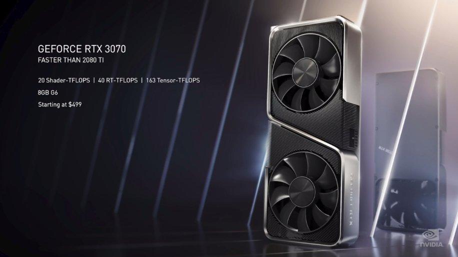 RTX 3070は499ドルでRTX 2080 Tiより高性能ってマジ