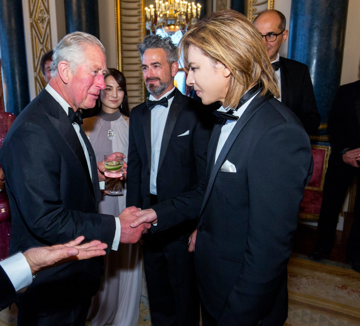 It was an honour to meet your Royal Highness Prince Charles at #BuckinghamPalace in #London. お会いできて光栄です