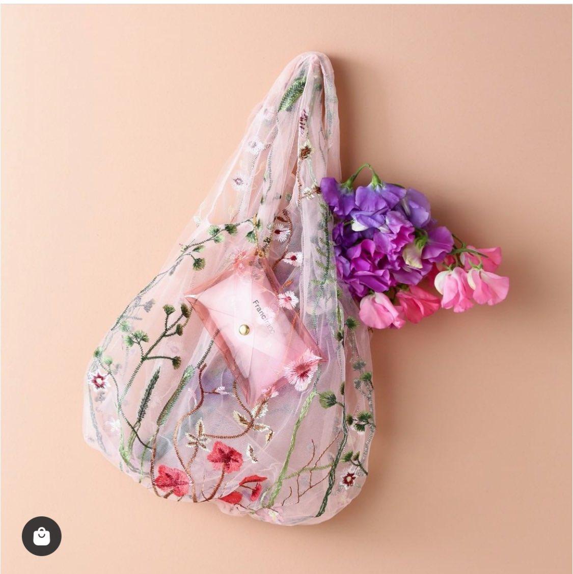 Francfranc(フランフラン)のチュール素材の刺繍バッグ、ちょっとええ加減にしてくれよってぐらい可愛い