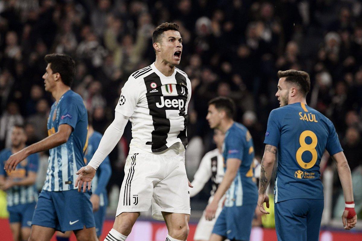 UEFA Champions League Full time at Juventus Stadium: ユベントス 3-0 アトレティコ・マドリー (agg3-2  27' : クリスティアーノ・ロナウド 49' : クリスティアーノ・ロナウド 86' : クリスティアーノ・ロナウド  ロナウド劇場!!!! ユベントスがCR7のハットトリックで2点差をひっくり返し逆転突破!!!