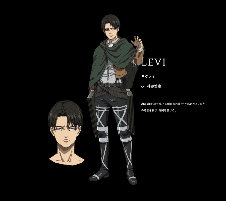 第65話で登場した、リヴァイのキャラクター情報を公開しました