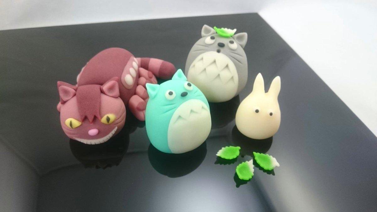 今晩の #金曜ロードショー は #となりのトトロ 📺  ということで、和菓子で作った『トトロ』です