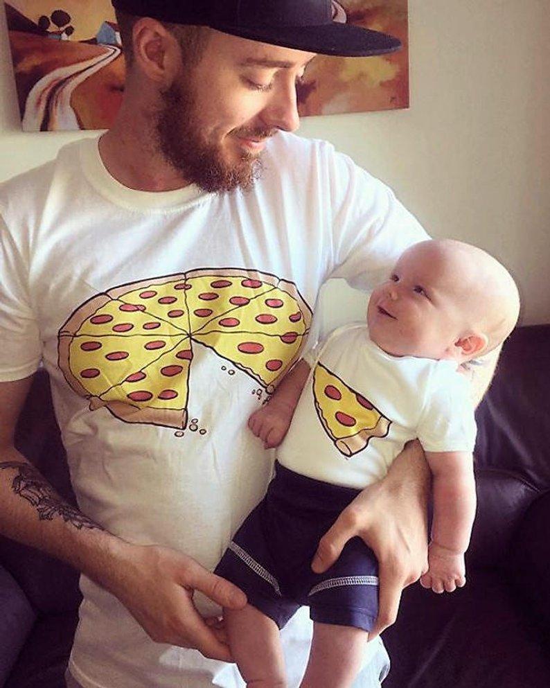親子Tシャツ  うまいなー