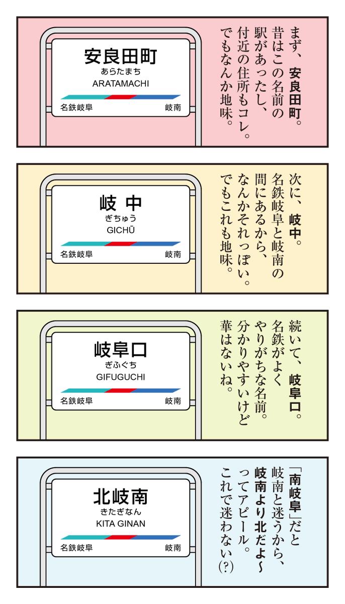 名鉄の加納駅と茶所駅が統合して高架上に新駅をつくるらしいので、新しい駅名案を考えてみた