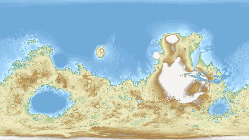 テラフォーミングされた月・火星・金星の地図をみると地殻変動がないから全然地球の地形っぽくないね  かろうじて金星はマシだが、秩序がなく水溜りの泥と大差がない陸、遠浅な海