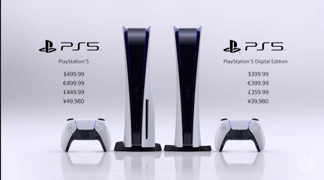PS5の価格が49980円、デジタルエディションが39980円に決定