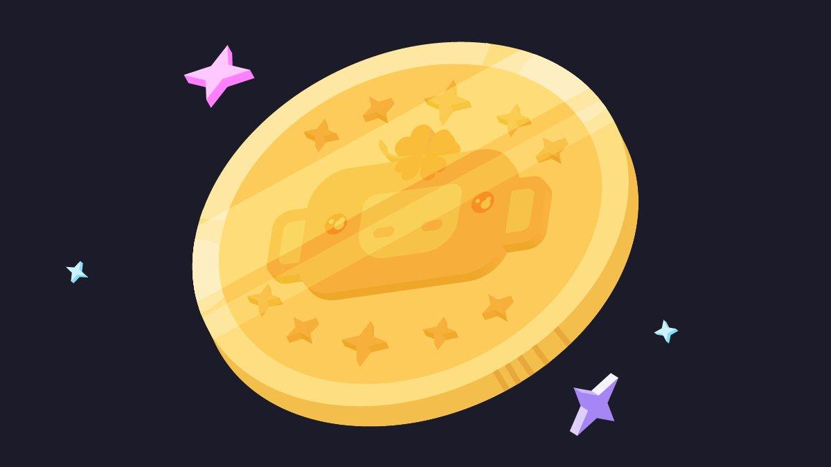 このキラキラのウンパスくんコインをリツイートすると10年間幸せになれるよ