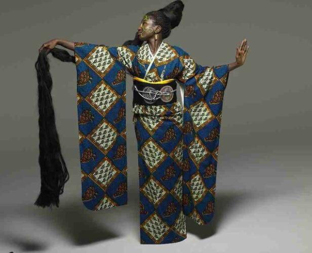 着物×アフリカ布=𝙒𝘼𝙁𝙍𝙄𝘾𝘼  ワフリカすごい