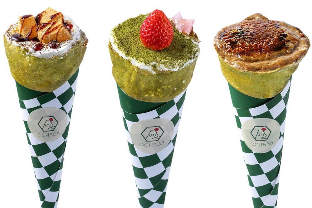 日本茶クレープ専門店「OCHABA」が東京・浅草に、わらび餅や団子を合わせた和クレープ -