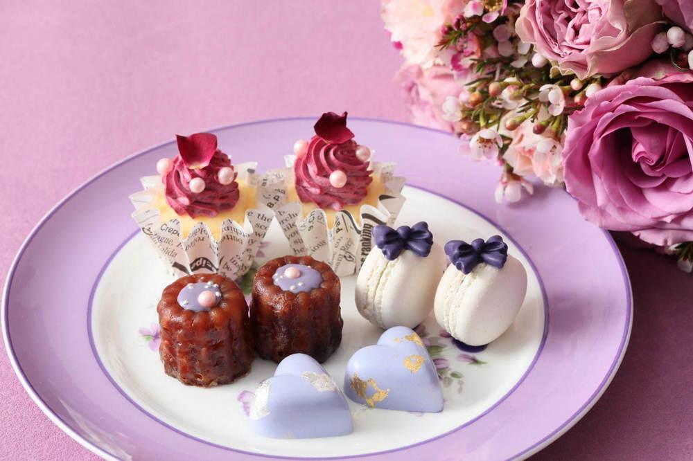 """マリーアントワネットの""""すみれ""""色アフタヌーンティーが名古屋で、カシスケーキやベリームース -"""