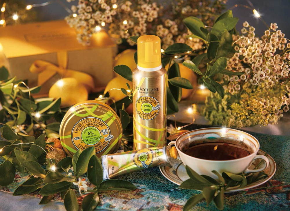 """ロクシタン2020年クリスマスコフレ&コスメ、""""淹れたてのアールグレイ""""の香りの限定ボディケア -"""